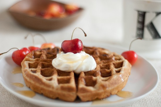 rainier cherry waffles