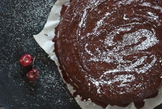 vegan cherry chocolate cake