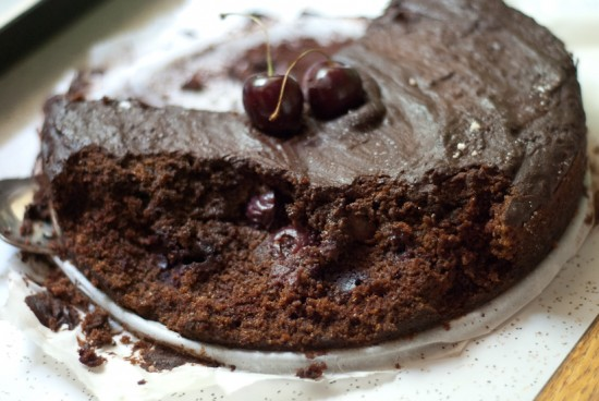 my dog ate my cherry chocolate cake