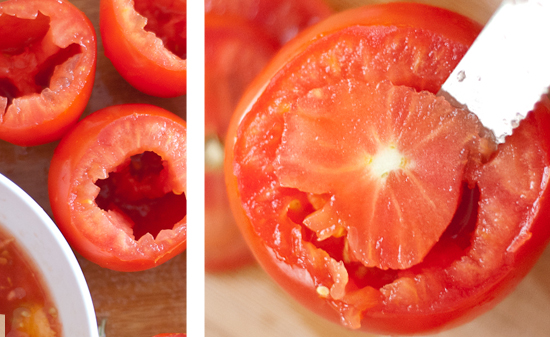 how to core tomatoes