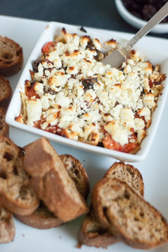 baked feta and tomato dip