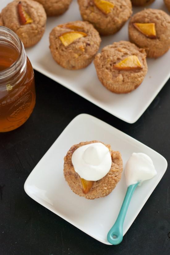 nectarine cupcakes with honey