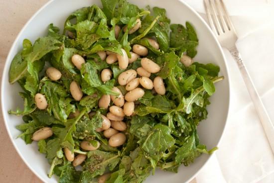 pesto arugula cannellini bean salad