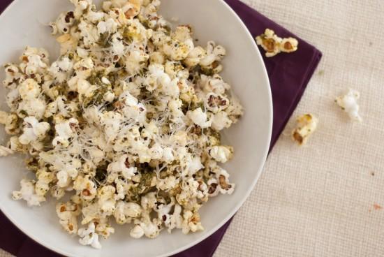 pesto popcorn recipe