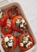 baked tomatoes with quinoa