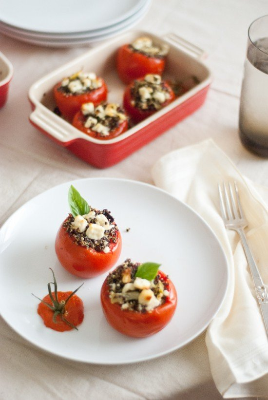 quinoa stuffed tomatoes recipe