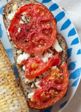 Tomato and Goat Cheese Toast