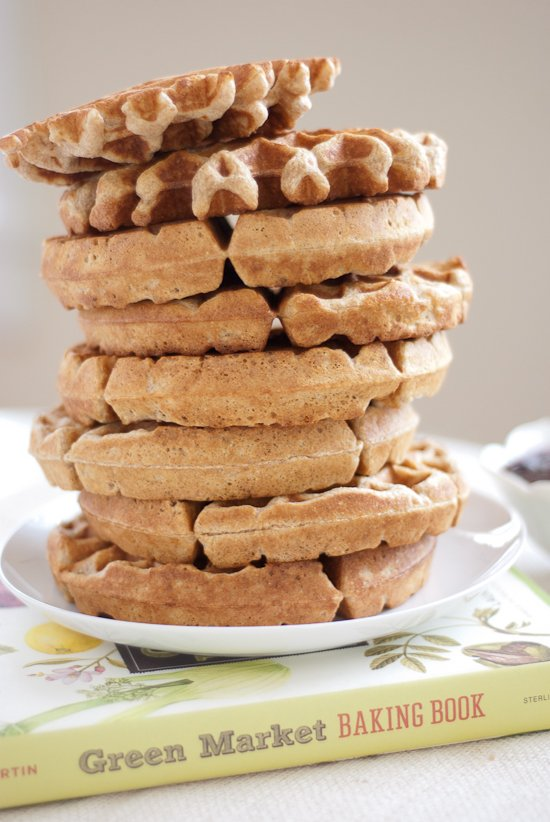 Alice Waters' recipe for whole wheat waffles