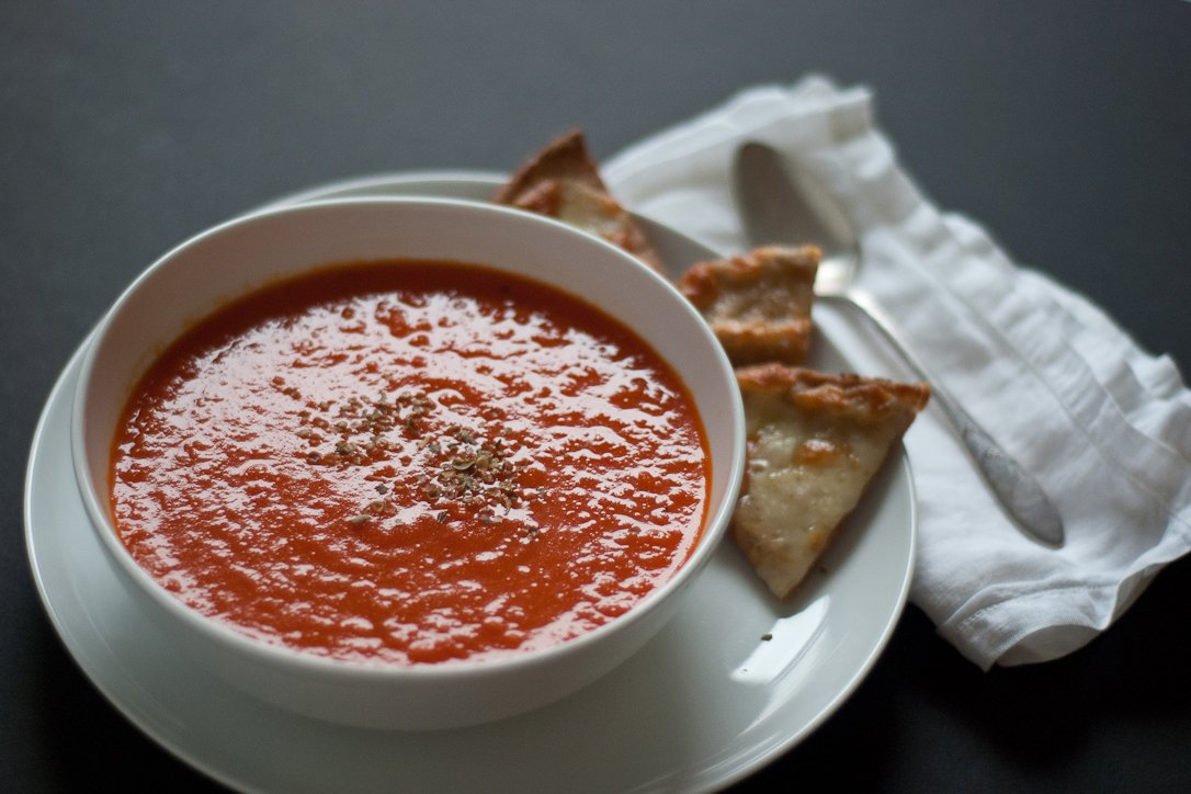 Roasted Red Pepper and Tomato Soup - Cookie and Kate