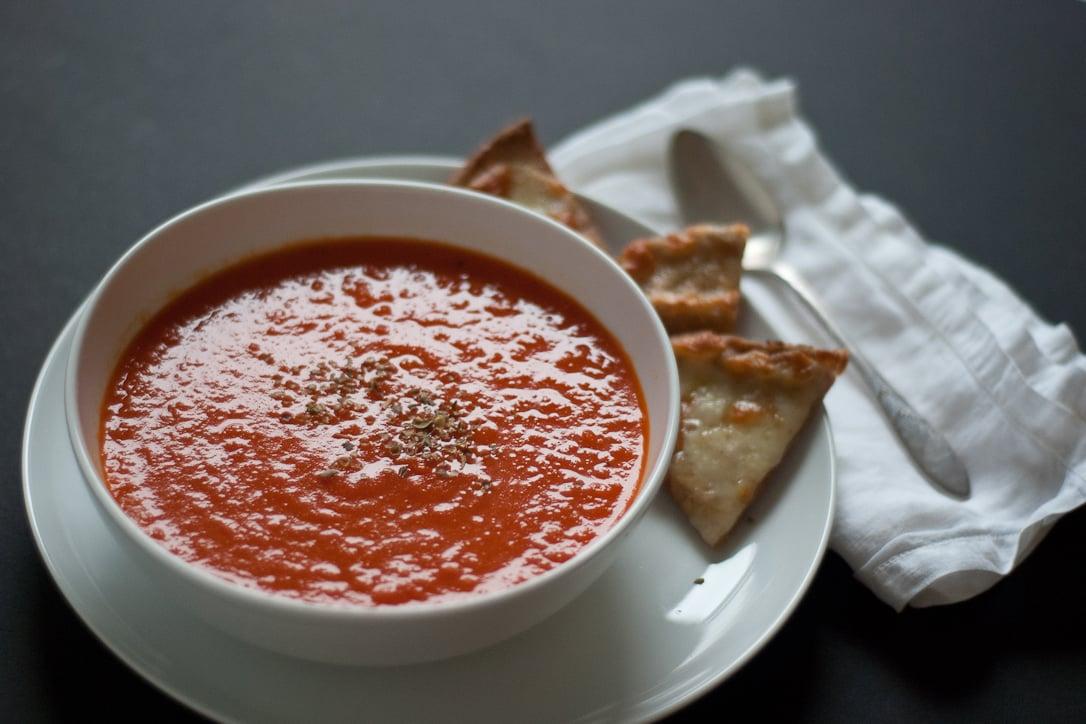 Sopa de tomate y pimiento rojo asado