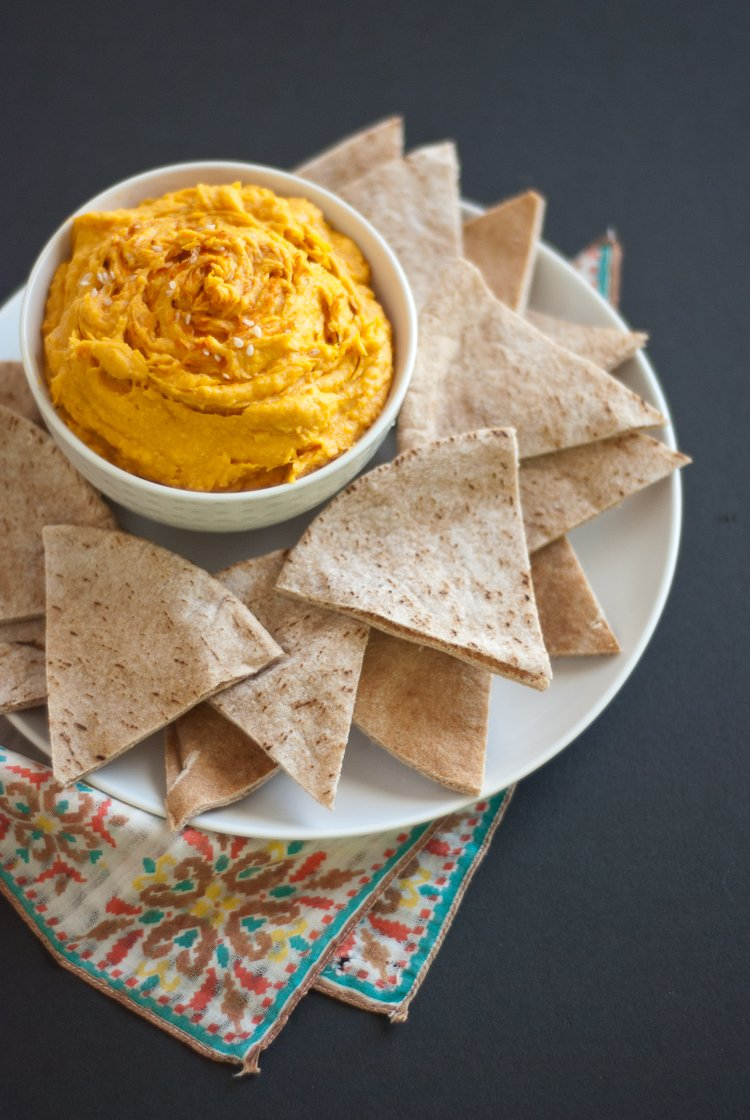 Meet my new favorite snack, spicy sweet potato hummus! It's ...