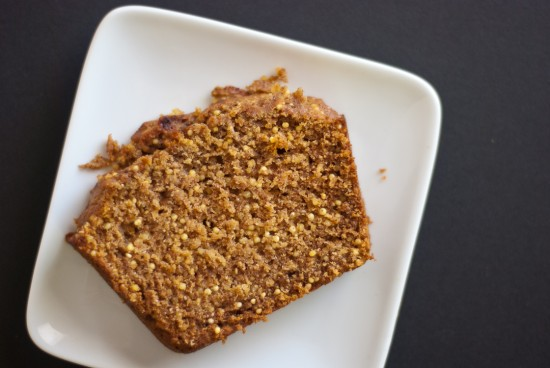 pumpkin bread with millet