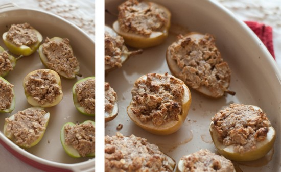 baked apple and pear crisps