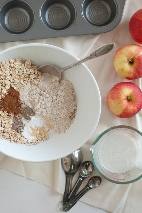 oatmeal apple muffins recipe