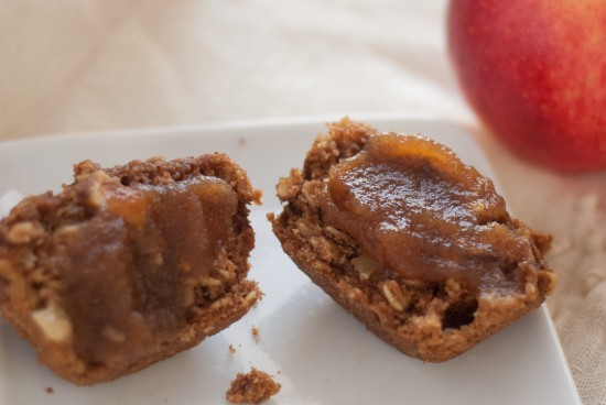 apple oatmeal muffins with apple butter