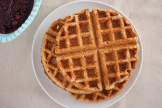 whole wheat coconut waffles
