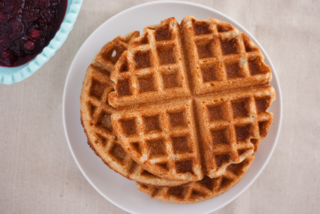 Whole Wheat Coconut Waffles Recipe - Cookie and Kate