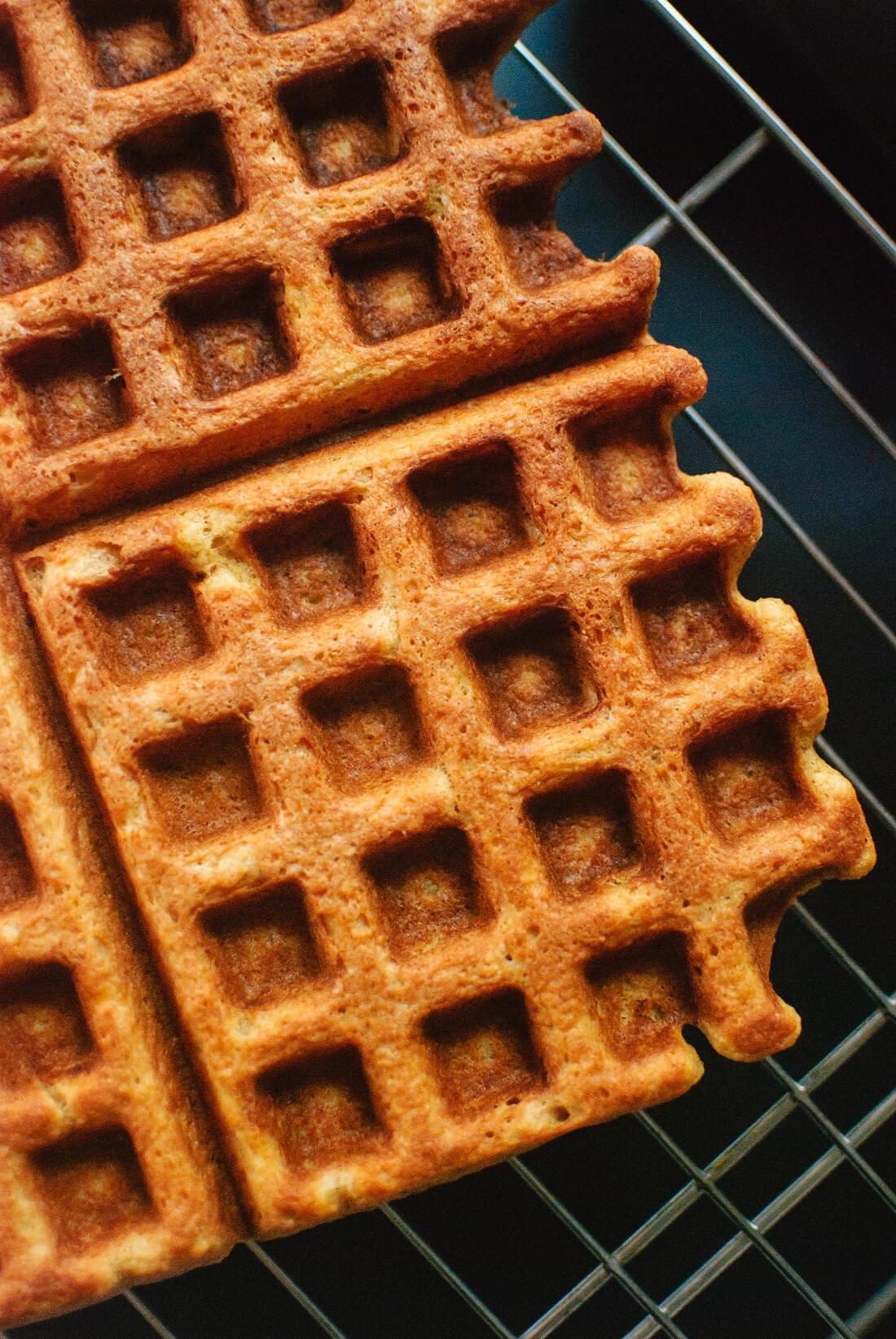 Pumpkin spice waffles (gluten free)