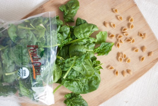 Peach Crest Farms spinach and whole wheat orecchiette