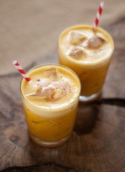 pumpkin, pineapple and rum cocktail