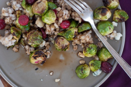 brussels sprouts with cranberries and barley recipe