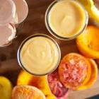 blood orange curd and meyer lemon curd