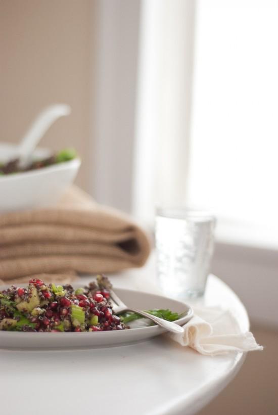 healthy pomegranate quinoa salad