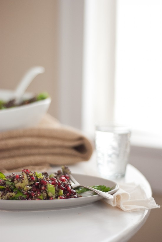 healthy pomegranate quinoa salad