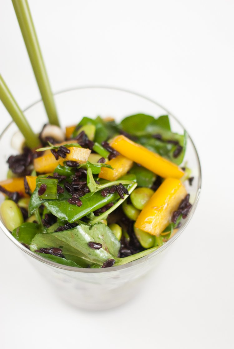 Watercress and Forbidden Rice Salad with Ginger Vinaigrette - Cookie ...