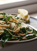 lemony collard greens pasta
