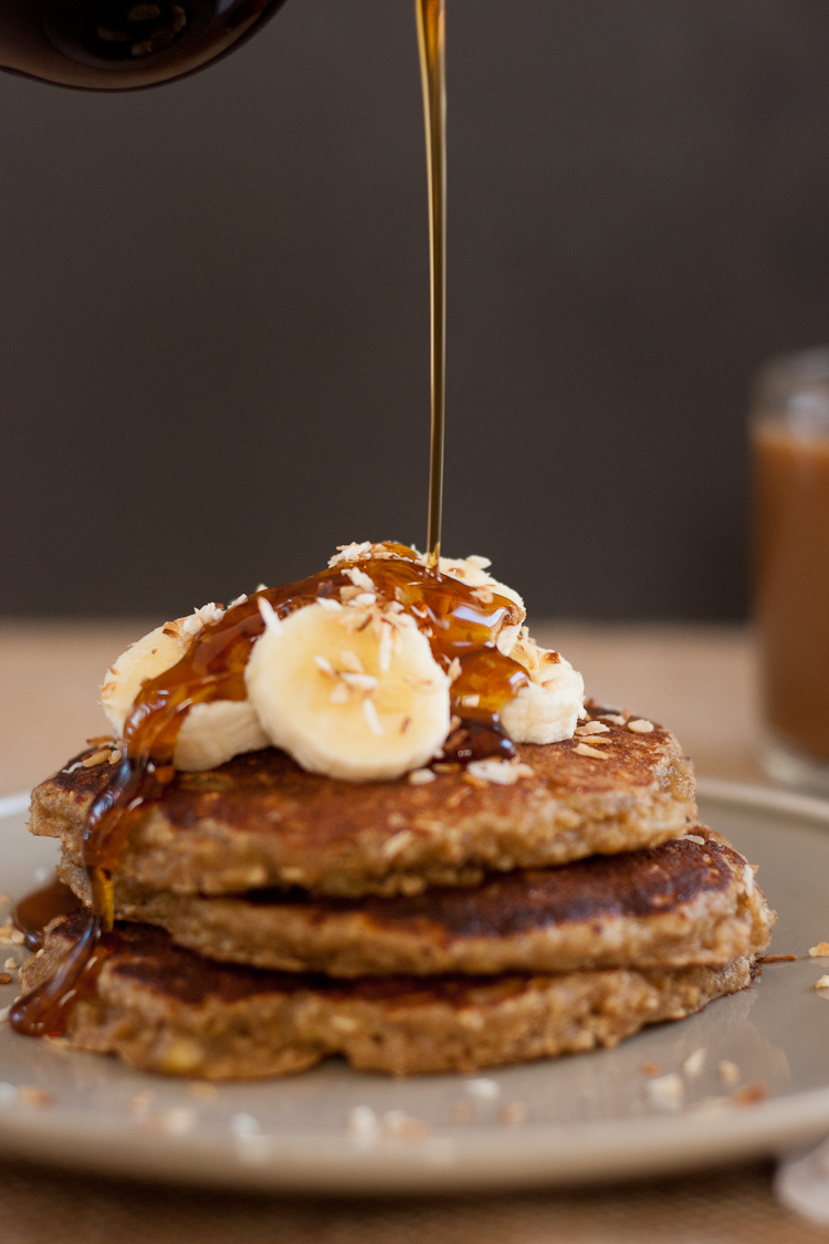 Gluten-Free Peach and Oat Pancakes - Cookie and Kate