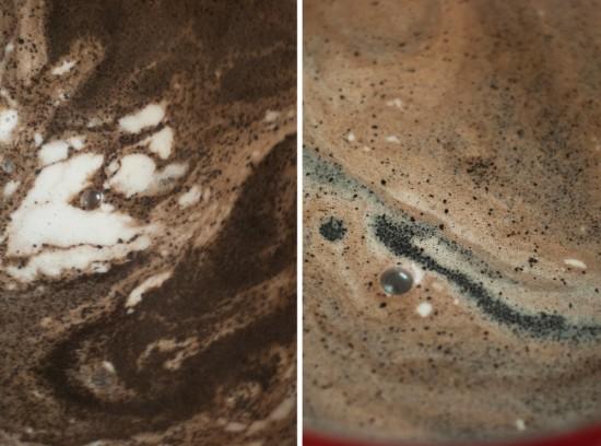 homemade coffee ice cream mixture