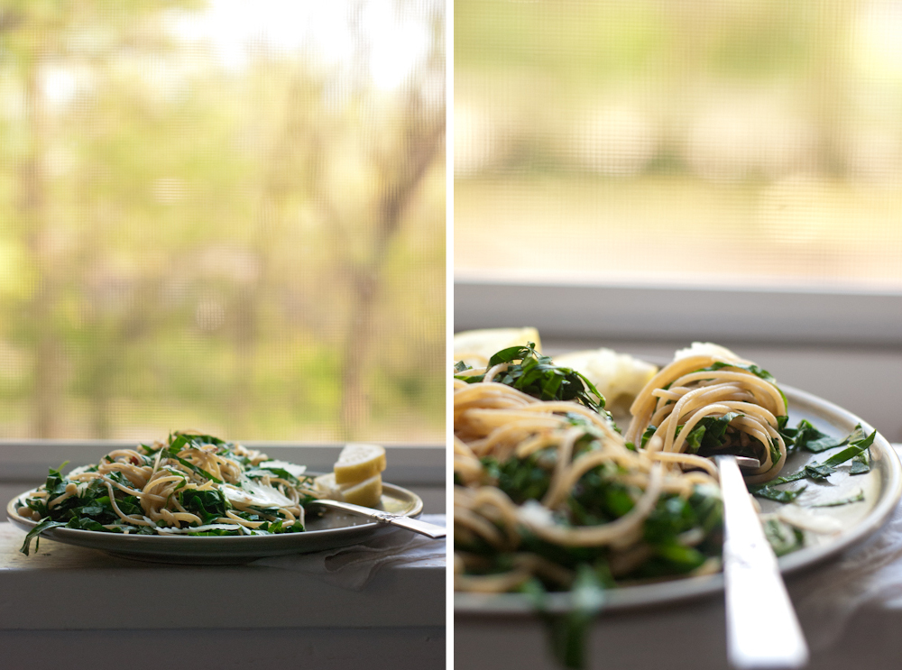 Lemony Collard Greens Pasta - Cookie and Kate