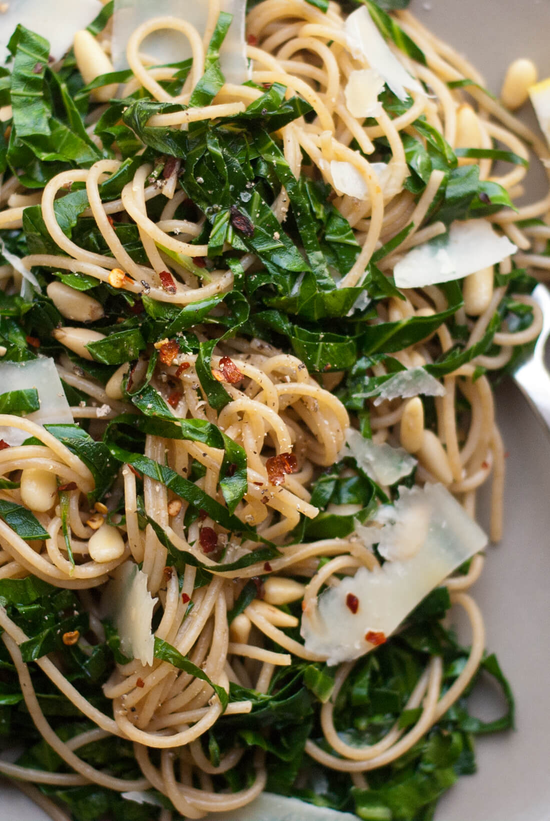 lemony collard greens pasta