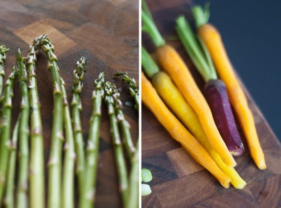 asparagus and carrots