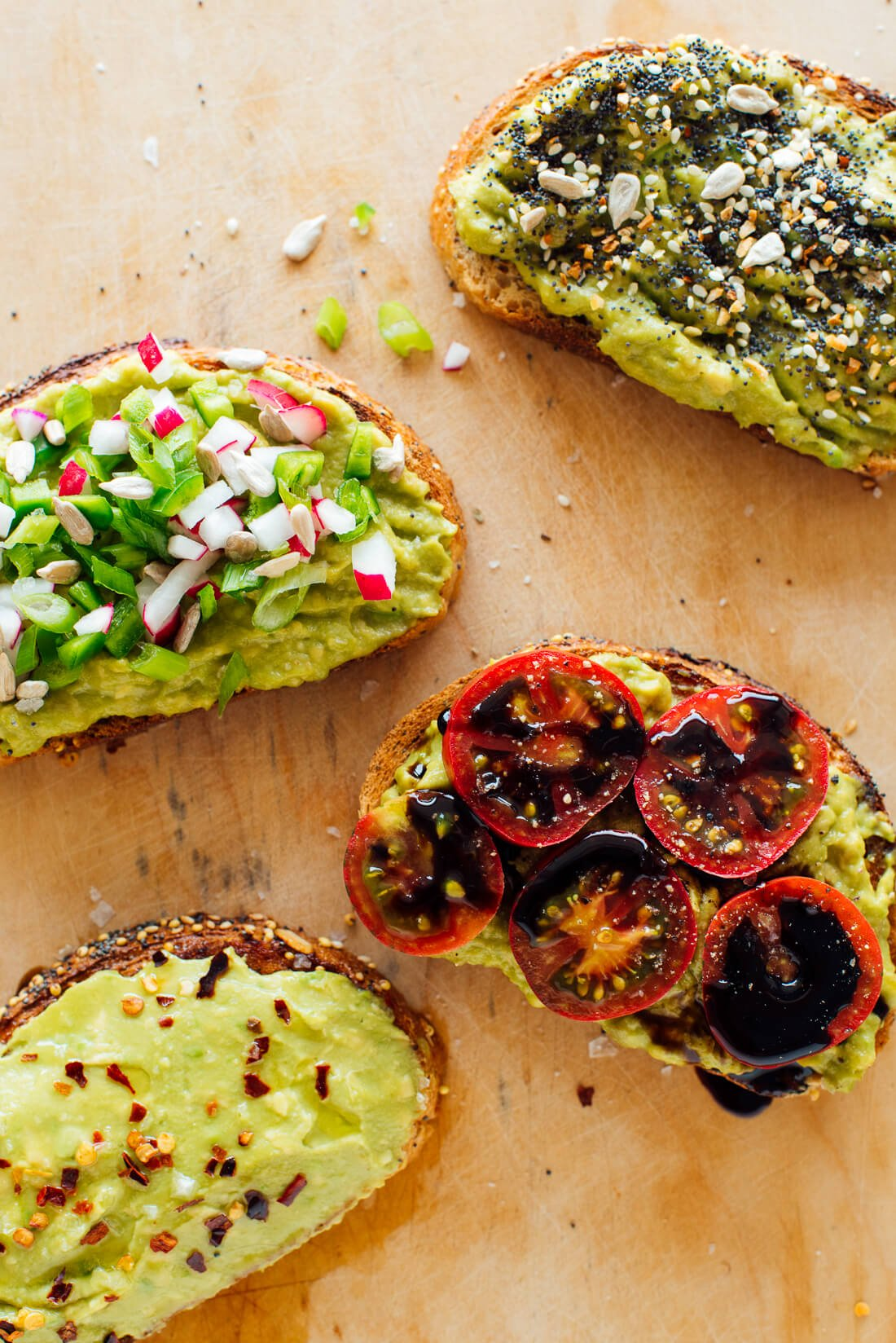 avocado toast variations