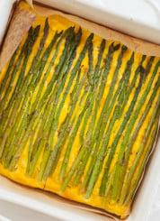 baked asparagus frittata