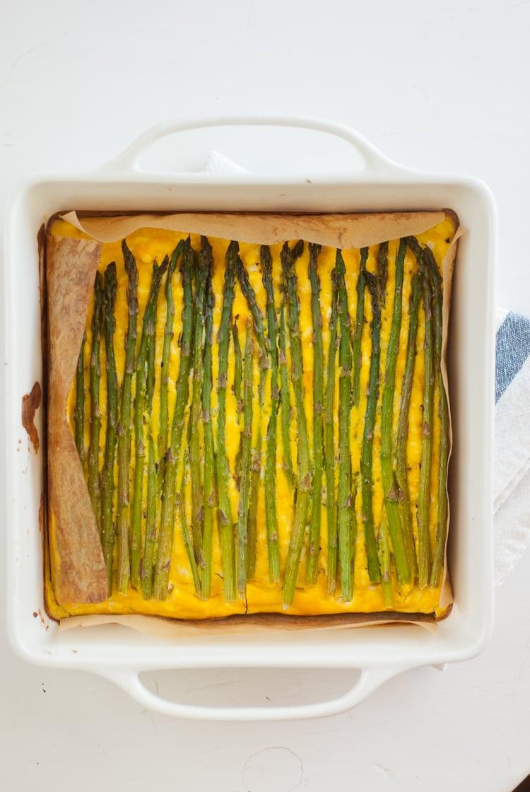 baked asparagus frittata recipe for Chesapeake TASTE