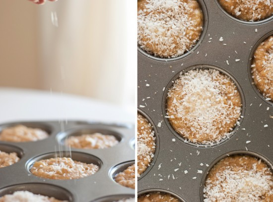 whole wheat banana coconut muffins