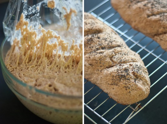 Mark Bittman's no work whole wheat baguettes
