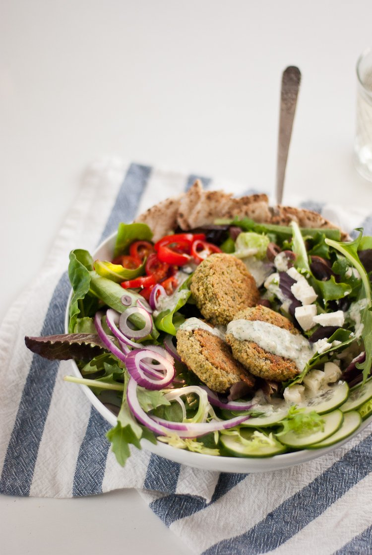 Baked falafel salad from cookieandkate.com