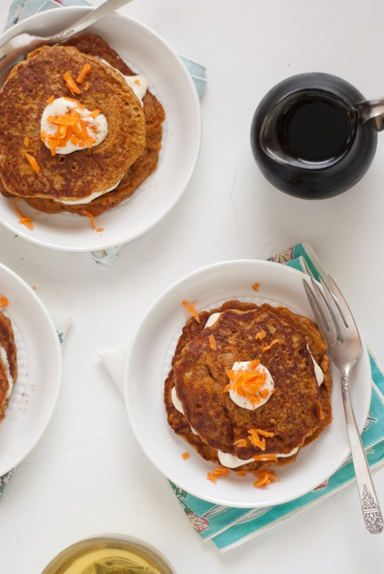 carrot cake pancakes recipe by Cookie and Kate