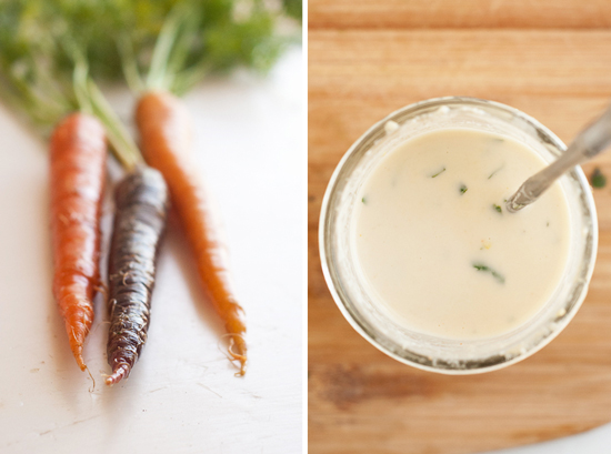 carrots and tahini dressing