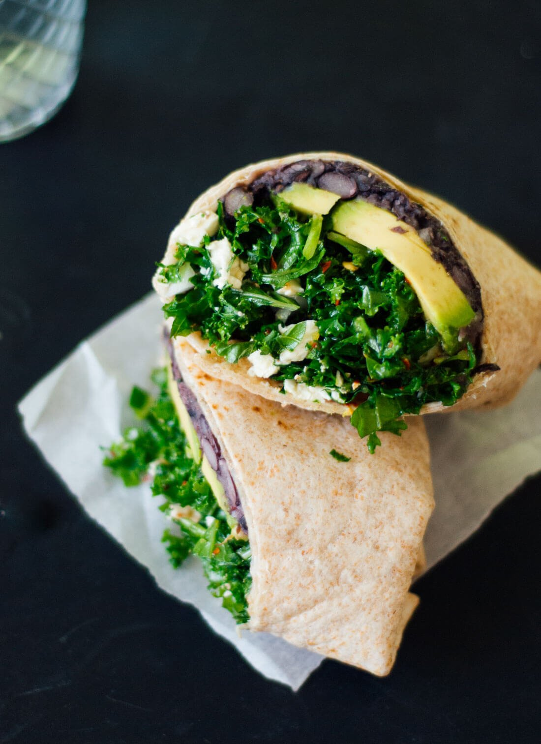Simple Kale And Black Bean Burritos Cookie And Kate