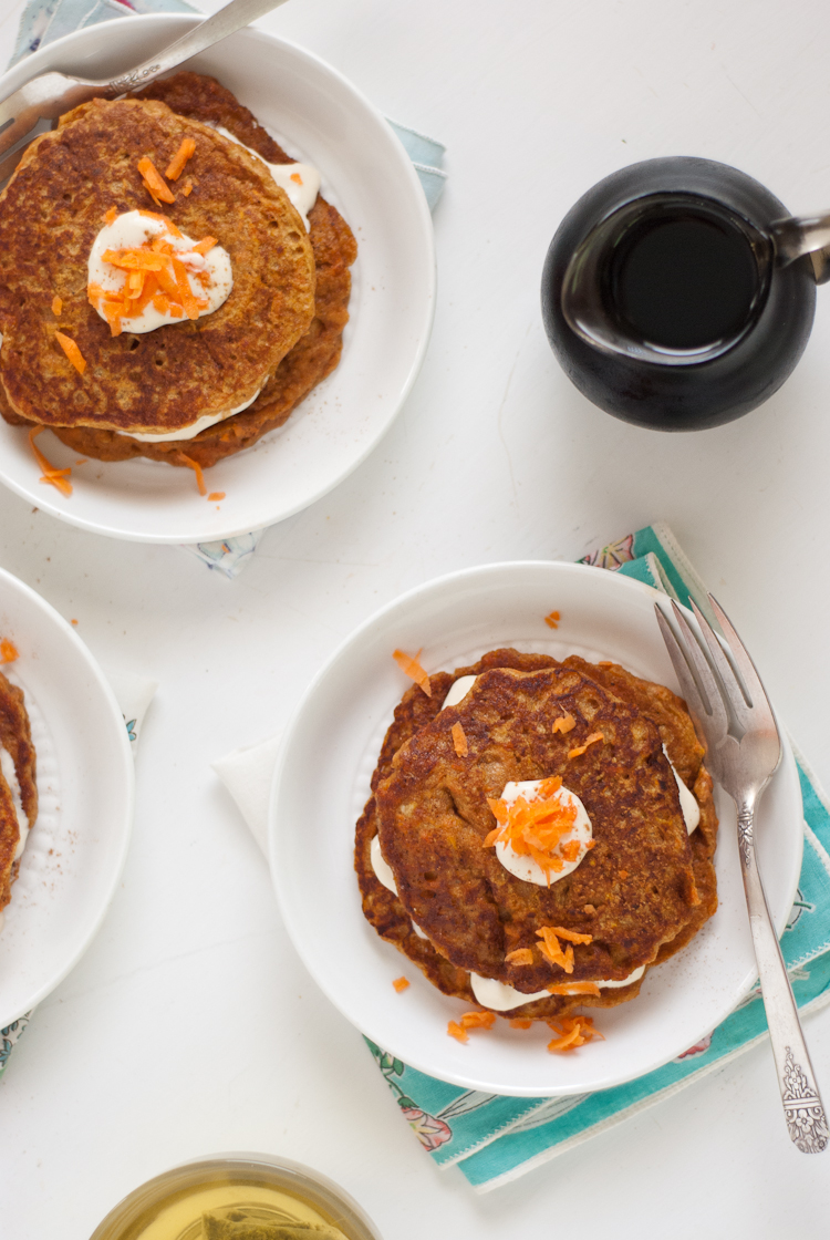 carrot cake pancakes by Cookie and Kate