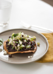 tomatillo black bean tostada recipe