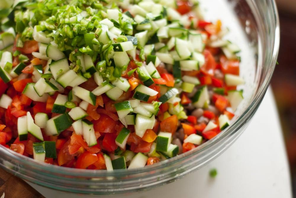 African Black Eyed Pea Salad Saladu Ebbe