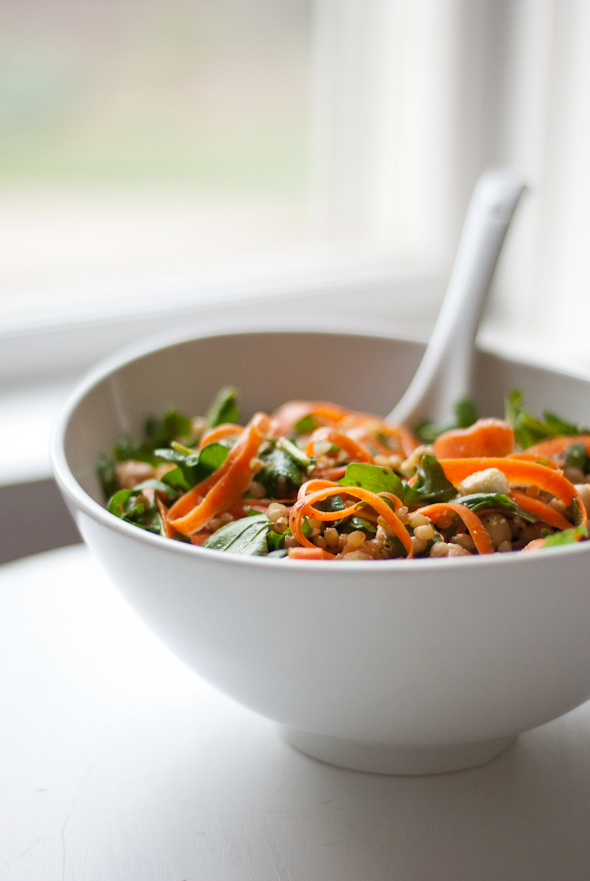 Arugula, Carrot and Chickpea Salad with Wheat Berries ...