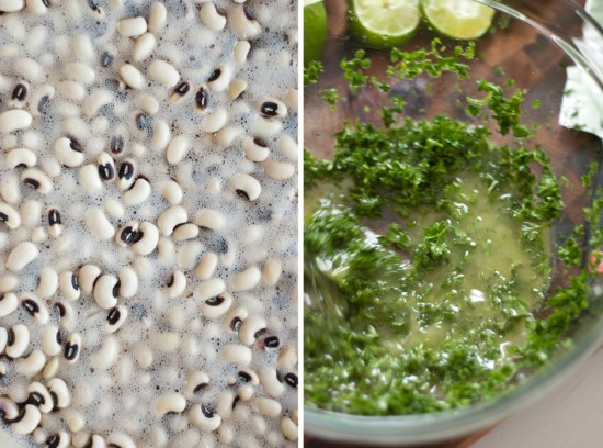 black-eyed peas and parsley