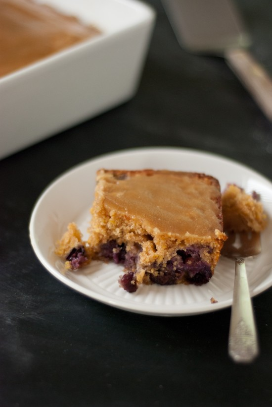 blueberry maple tea cake